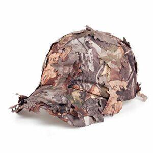 KAIDANB Casquette de baseballPersonnalité Design Casual Camouflage Coton Casquette De Baseball Rapide Boisson en Plein Air Feuilles Camouflage Chapeau,2