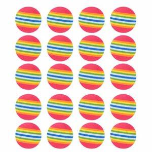 Kisangel 25 Pièces Arc-en-Balles De Golf De Golf en Mousse Balles de Practice De Golf Ballon D'entraînement Amusant De Golf Aides à La Formation Au Jeu Jouet Cadeau pour Golfeur Athlètes