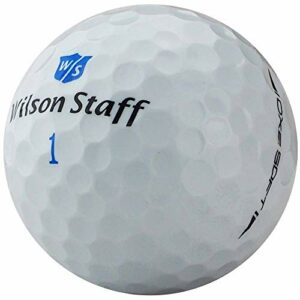 lbc-sports Wilson Staff DX2 Soft Lady Lot de 36 balles de golf sans logo Blanc