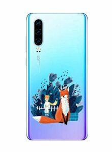 Oihxse Clair Case pour Huawei Honor 9X/9XPro Coque Ultra Mince Transparent Souple TPU Gel Silicone Protecteur Housse Mignon Motif Dessin Anti-Choc Étui Bumper Cover (A5)