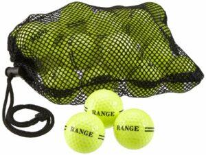 Second Chance Lot de 2 Sacs de balles de Golf Jaune Jaune 48