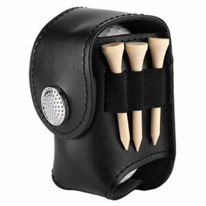 TAKE FANS Support pour sac de balle de golf – Clip pour sac de golf – Pochette utilitaire – Ensemble de matériel de golf – Avec tees de balles (couleur : noir)