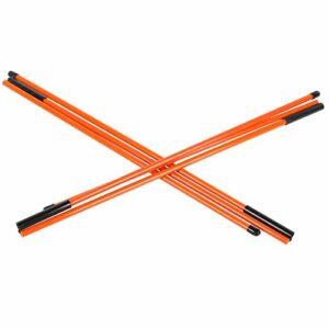 TANKE Bâton d'alignement de golf en fibre de verre – Indicateur de direction – Accessoires d'équipement de golf – 121 cm