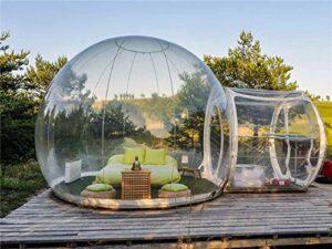 Tente Gonflable extérieure de Bulle, dôme de Jardin avec auvent de belvédère de Serre de Tunnel Simple Tente Transparente de Camping d'arrière-Cour Grande cosse météorologique surdimensionnée