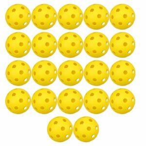 TOYANDONA 22Pcs Balles de Golf en Plastique Balles de Formation de Golf Enfants Balle Jouet Accessoires de Golf pour La Maison en Plein Air (Jaune)