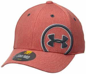 Under Armour Boys' Big Logo Update Cap, Risk Red (601)/Black Ink, Youth X-Small/Small