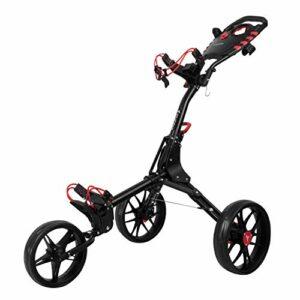 vilineke Chariot de golf compact 3 roues pliable et léger Noir