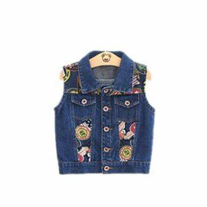 1-6 Année Bébé Enfants Denim Gilets Nouveau Printemps Et Automne Coton Garçons Gilets De Mode Bebe Filles Vêtements Survêtement Colete Multi 3T