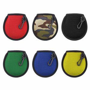 3pcs Balle de Golf Nettoyant Pochette Poche Sacs Supports Noir Rouge Camouflage avec Boucle à Clip Suspendue Accessoire de Golf Étanche Propre à Sec