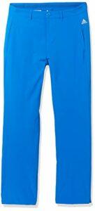 adidas Golf Boys' Solid Golf Pants, Glory Blue, X-Large