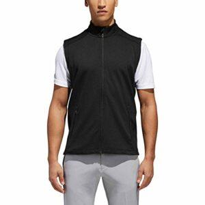 adidas Golf Climaheat Gilet zippé pour homme Noir Taille S