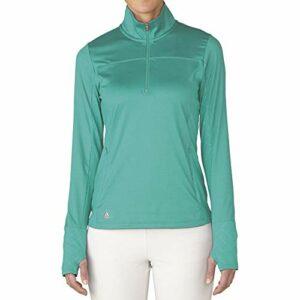 adidas Golf pour Femme Rangewear Demi Fermeture Éclair pour Femme L Nordic Green