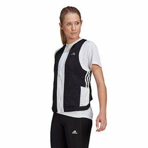 adidas Otr 3s Vest W Gilet pour Femme, Femme, Veste sans Manche, GM1487, Noir/Blanc, XXS