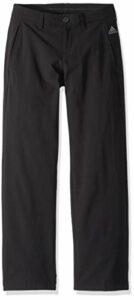 adidas Pantalon de Golf Solide pour garçon, Fille, Pantalon, TB6301S9, Noir, M