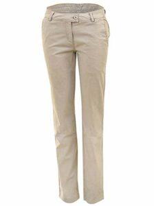 agon Pantalon chino de golf pour femme avec poche pour balle et porte-thé – Beige – W44