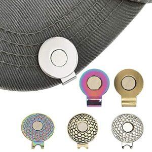 Allsmart Marqueur de Balle de Golf, 6 Clips de Chapeau de Golf avec marqueur de Balle Ensemble-Cadeau de Valeur magnétique – marqueurs de Golf en Argent de pièce Ronde en métal