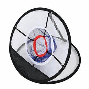Alomejor Filet d'entraînement au Golf Filet de Golf en Nylon Noir Pliable pour la Précision et la Pratique du Swing Idéal pour Tous Les Niveaux de Compétence
