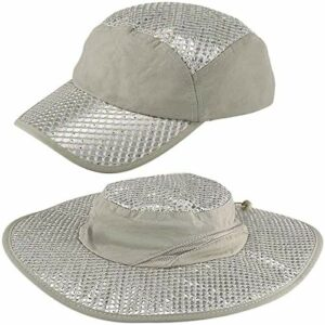 Anti-UV Sunstroke-Prevented Cooling Hat, Arctic Cap Cooling Ice Cap Sunscreen Hydro Cooling Bucket Hat Arctic Hat with UV Protection Keeps Cooling Protected
