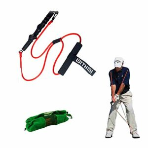 Bande de puissance de golf, crochet rotatif à 360 degrés, point de tension fixe, avec boucle de porte de sécurité, peut être entraîné à l'intérieur et à l'extérieur (rouge)