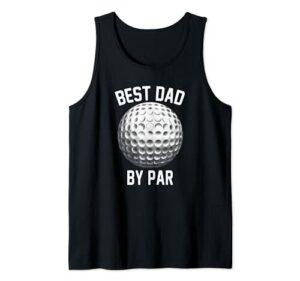 Best Dad By Par Father's Day Golf Funny Golf Lover Golfer Débardeur
