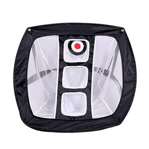 Bluting Golf Practice Net,Collapsible Golfing Target for Indoor/Outdoor Use,Portable Training Aid to Practice,Used Improve Accuracy,Black-A