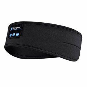 CaCaCook Bandeau Bluetooth, Casque sans Fil Bluetooth 5.1 Musique Casque de Sommeil de Voyage Masque de Sommeil Mains Libres avec Haut-parleurs intégrés pour Dormir sur Le côté, Courir, Yoga