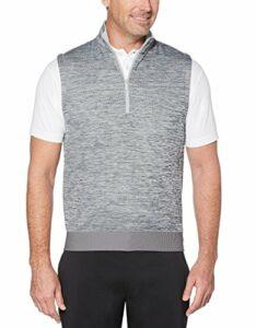 Callaway Veste de golf imperméable avec fermeture Éclair 1/4 pour homme, Homme, Sans manches, CGKF8039, Gris chiné moyen, 3XL