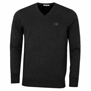 Calvin Klein Golf Hommes V-Neck Pull Tour – Charcoal Marl – XXL