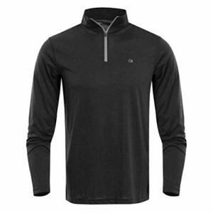 Calvin Klein Golf Mens Harlem 1/4 Zip Pull – Noir – L