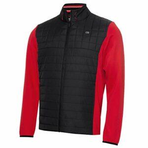 Calvin Klein Vardon 2021 Veste de golf hybride respirante et isolante pour homme – Rouge – S