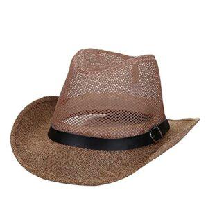 Chapeau De Paille Cowboy et Bandeau Chapeau Paille Homme Noir