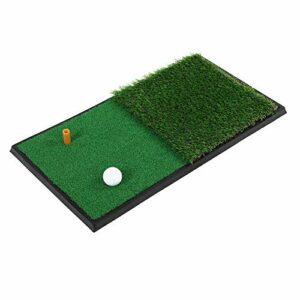 Cikonielf Tapis de Golf, Double Swing Pad Semelle en Caoutchouc Tapis de Pratique de Golf Tapis de Frappe de Golf Simulation Pelouse pour intérieur extérieur
