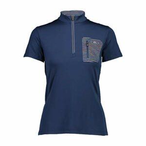 CMP Freebike T-Shirt, Femme, Bleu-Solaire, 38