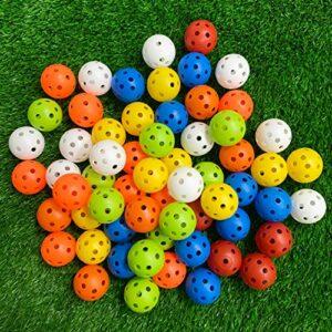 Crestgolf Balles d'entraînement de Golf en Plastique – Balles de Pratique de Golf Creuses de 40 mm à Flux d'air perforé pour Practice, Swing Pratique, Usage Domestique