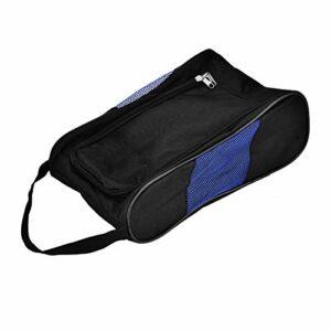 DAUERHAFT Étui pour Chaussures de Golf Double Fermeture à glissière en Nylon résistant à la déchirure(Black Blue)