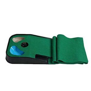 Delaspe Golf Putting Green Mini Tapis de Golf Portable pour entraîneur de Golf pour intérieur extérieur