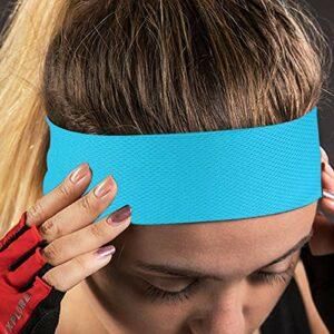 DISHUECO Bandeau de sport élastique à séchage rapide pour le sport, le yoga, la gym, la course à pied