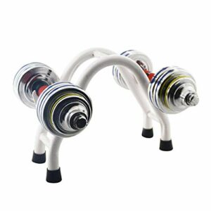 Durable Sport Haltères compactes en acier rack Fer Haltères Stands Support Haltérophilie Set Fitness Equipment Équipement accessoire de sol Barbell, équipement de remise en forme faire des exercices