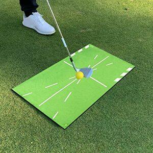 ENticerowts Tapis D'entraînement De Golf Détection D'oscillation Pliable Antidérapant Batting Golf Practice Training Pad Game Pad Coussin Vert