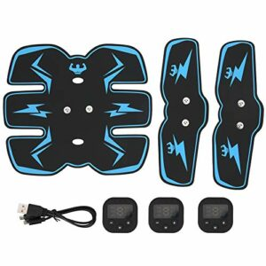 Ever Collage Abdominal, Affichage numérique de Charge Collage Abdominal Forme Muscle Trainer Instrument Running Sports Equipment(Bleu)