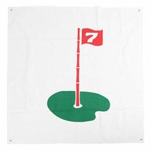 EVTSCAN 59.1×59.1 dans Le Golf frappant Le Tissu de Cible Pratique Le Tissu de Frappe Bon Son Golf frappant Le Filet de Cible pour l'entraînement extérieur en intérieur(Circle)