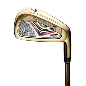 Fer de golf 7NSR Derniers clubs de golf en acier inoxydable carbone équipement de golf pour homme et femme (Or carbone)