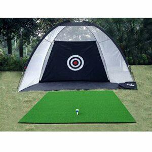 Filet de pratique de golf, équipement de golf, filet d'entraînement de golf intérieur de 2m, 3m, portable et facile à ranger en noir for les entrainements de compétition de golf en automne et en hiver