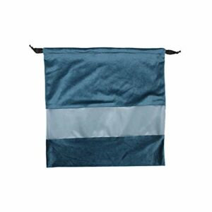 FIYRA 1 sac de rangement en velours avec cordon de serrage Bleu 39 x 38 cm
