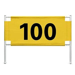 FLBTY Signe De Distance des Télémètres De Golf, Étiquette De Numéro De 50-200 Verges, Carte De Marqueurs De Balle Anti-Pluie De Protection Solaire, Mesure De La Distance De Balancement