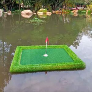 Floating Golf Putting Green for Pool,Spring Golf Floating Pool Game Green,Pool Golf Game,Golf Practice Swing Trainer (11.81in x 23.62 in)