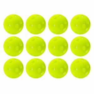 Franklin Sports Golf – Golf Balls- 12 Pack – Indestructible – Practice Golf Balls – Limited Flight – Plastic Training