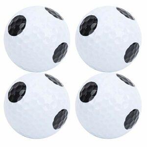 Fudax Balle de Pratique de Golf, Balle de Jeu Double Couche de Golf, Balle de Golf à Point Noir, 4 pièces de Haute qualité pour Les Parcours de Golf des Amateurs de Golf