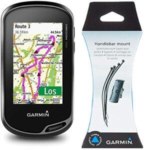 Garmin – Oregon 700 – GPS de randonnée – Ecran Couleur Tactile 3» & Support Chariot Golf et Support vélo GPS