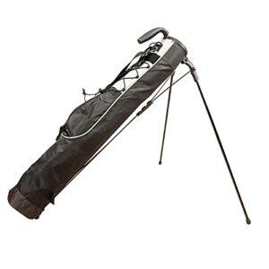 GGGJ Sac de Support de Golf léger Facile à Transporter Pitch Idéal pour Parcours de Golf et Voyage 80cm x 76cm,Noir